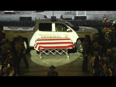 Casket Of Slain Maine Sheriff's Deputy Arrives At Funeral