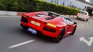 Lamborghini Aventador Roadster Tăng Tốc, Nẹt Pô Phun Lửa Dữ Dội | XSX