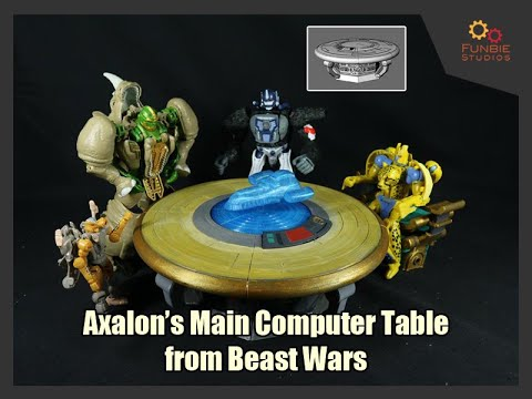 Funbie Studios 3D Printed Axalon's Main Computer Table from Beast Wars