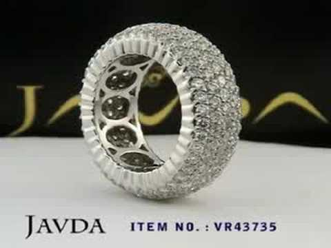 4 Ct Round Pave Diamond Eternity Anniversary Ring Band Gold