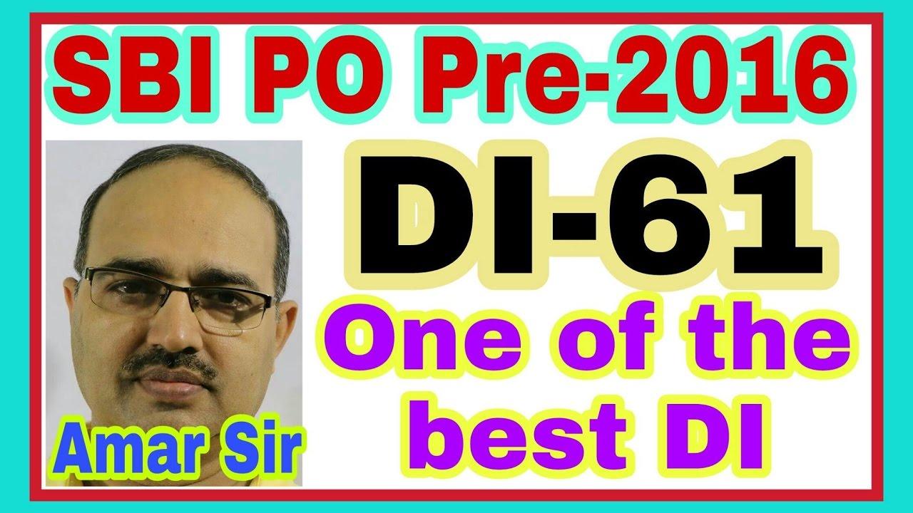 Data Interpretation61 Sbi Po Pre2016 Shortcut Tricks By Amar Sir Bank Poclerkssc Cgl