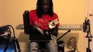 Shamarr Allen unboxing Carol Brass Dizzy Upturn Pocket Trumpet