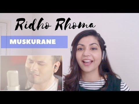 Ridho Rhoma- Muskurane (Arijit Singh Cover) -- Reaction Video!