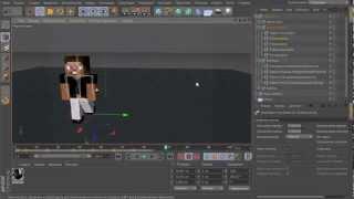 cinema 4D Minecraft Tutorials - Анимация, ключи и интерполяция