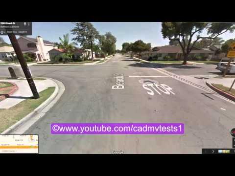 Bellflower, California behind the wheel test route # 1