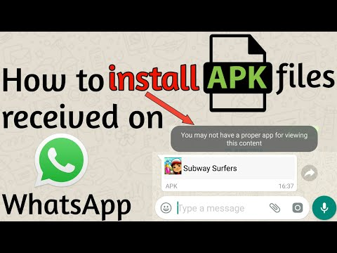 How to install APK files (apps) received on WhatsApp