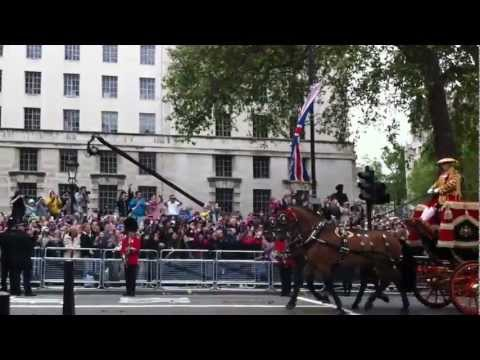 Queen's Diamond Jubilee Carriage Procession 2012 - Duke and Duchess of Cambridge & Prince Henry