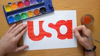How to draw the Usa Network logo