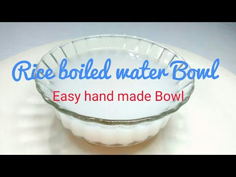 Rice boiled water bowl 🍚    Hand made easy bowl    how to make paper bowl used rice boiled water.