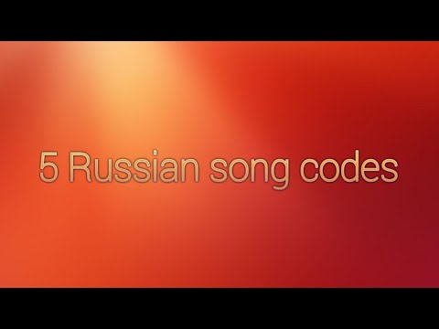 5 Russian Song Codes For Roblox Youtube