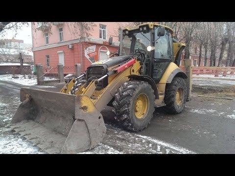 Экскаватор погрузчик Caterpillar 434E | Авто обзор