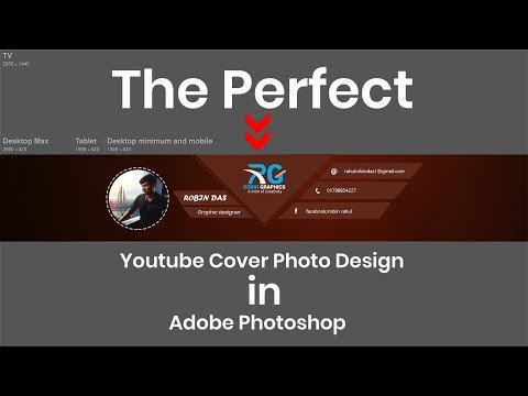 The Perfect Youtube Cover Photo Design in Photoshop | Photoshop Tutorial #13 thumbnail