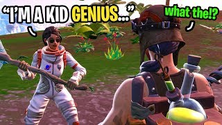 I met a KID GENIUS in Fortnite random duos... (Smartest 11 year old EVER!)