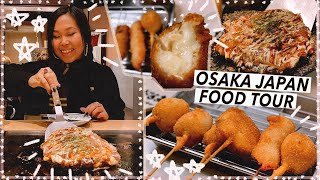 Osaka Japan Street Food Tour | Dotonbori & Shinsekai | Travel Vlog