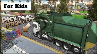 Garbage Dump Truck Driver l For Kids