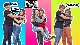 "LAST TO Stop HUGGING Their ""BOYFRIEND"" Wins $10,000 **COUPLES CHALLENGE**🤗 
