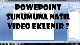 PowerPoint sunumuna video nasıl eklenir-powerpoint video ekleme sorunu