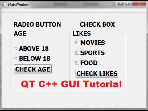 QT C++ GUI Tutorial 30- How to Use QCheckBox and ...