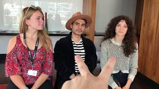 Kelly Connaire, Rod Hernandez-Farella, Stephanie Pearson | Downrange actors | #TIFF17 Interview