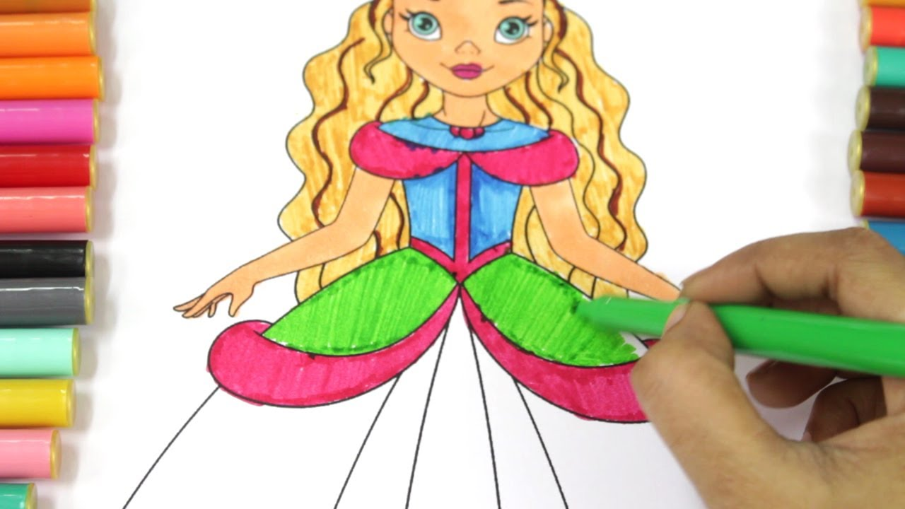 colouring Barbie colouring pages for kids / Барби ...