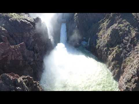 Thumbnail: Owyhee Res Glory Hole Spillway DJI Phantom 4 Drone Video #3, March 23, 2017