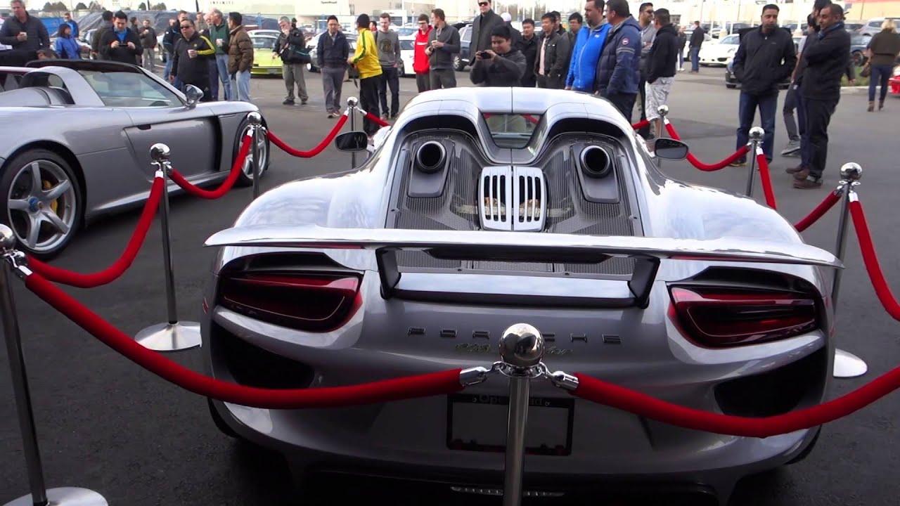 Porsche 918 And Porsche Carrera Gt Youtube