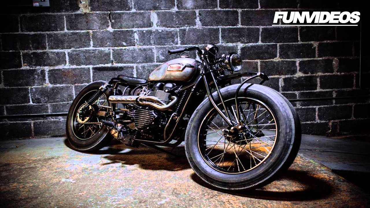 motor cafe racer custom bike - motos custom bobtail tuning 1 - youtube