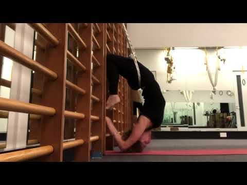 Yoga: Yoga KURUNTA: Sirsa Padasana Variation With Ropes