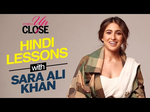 Hindi Lessons with Sara Ali Khan | Date Or Hate Ft. Sara Ali Khan | Femina Up Close