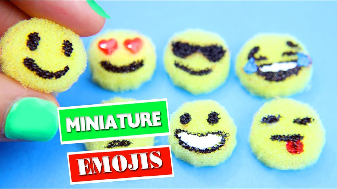 Diy Miniature Emojis Easy Doll Crafts Simplekidscrafts Youtube