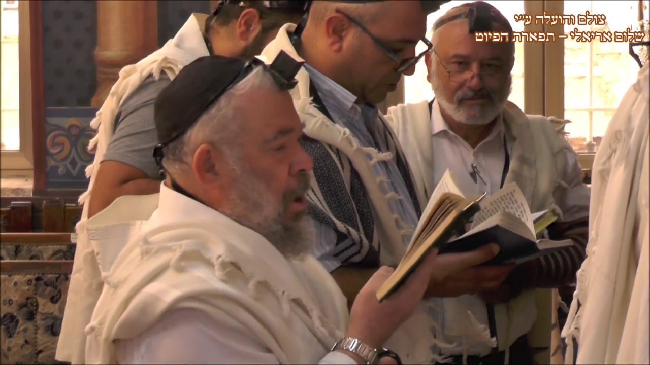 תפילת שחרית וקינות בבית הכנסת הגדול עדס לעדת החאלבים תשעה באב תשע''ט