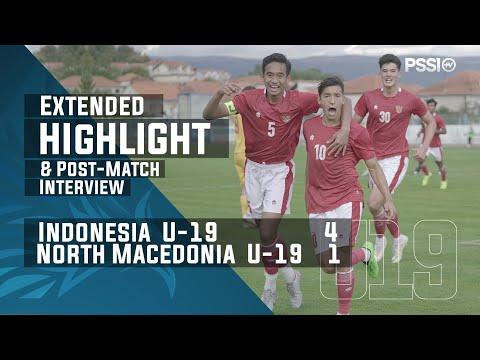 U-19 International Friendly Match : Indonesia 4 - 1 North Macedonia (with Post-Match Interview)