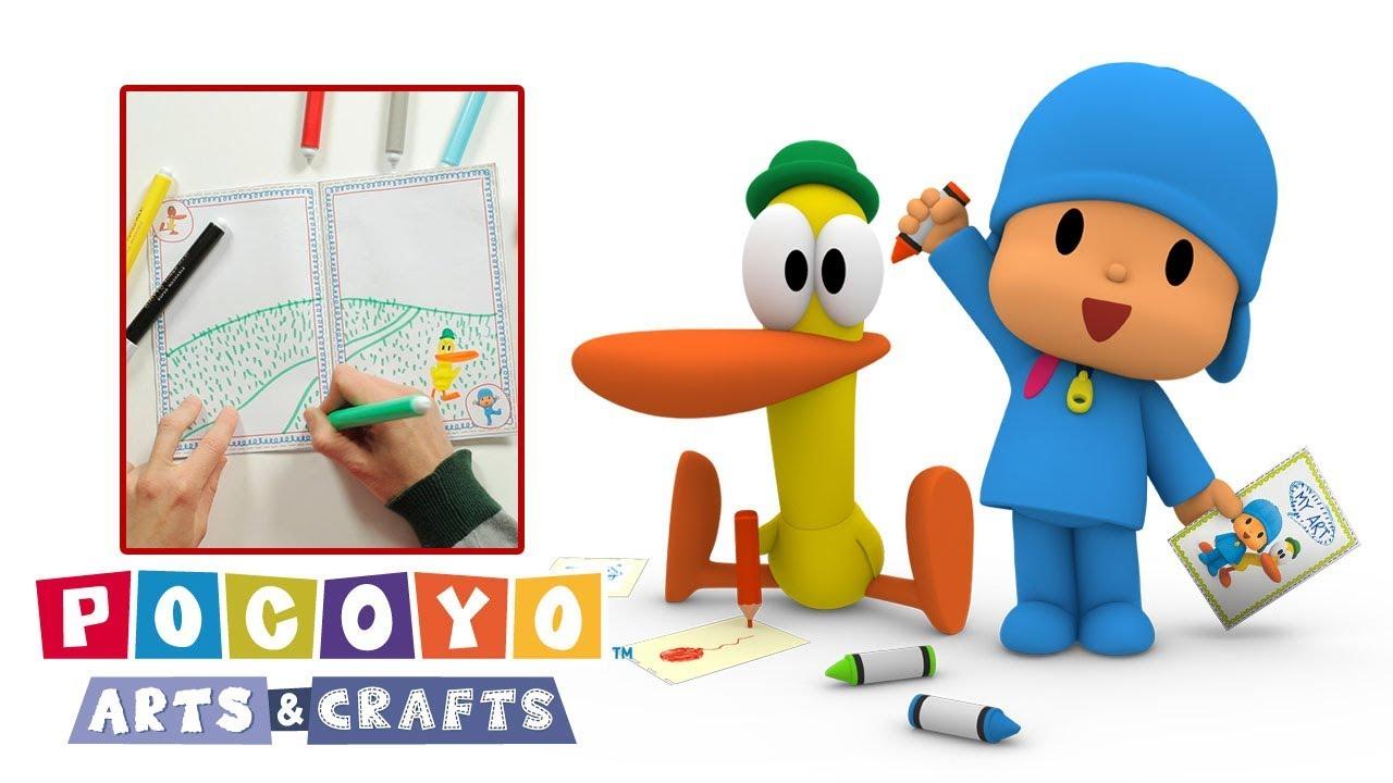 Pocoyo Arts Crafts Livre Pour Jeunes Ecrivains Dessin Anime