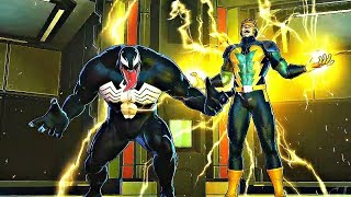 Marvel Ultimate Alliance 3 - Venom & Electro Boss Fight & Spiderman Recruits Venom