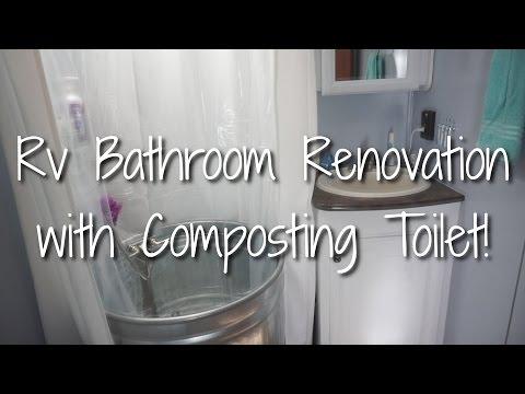 RV Bathroom Renovation with Composting Toilet