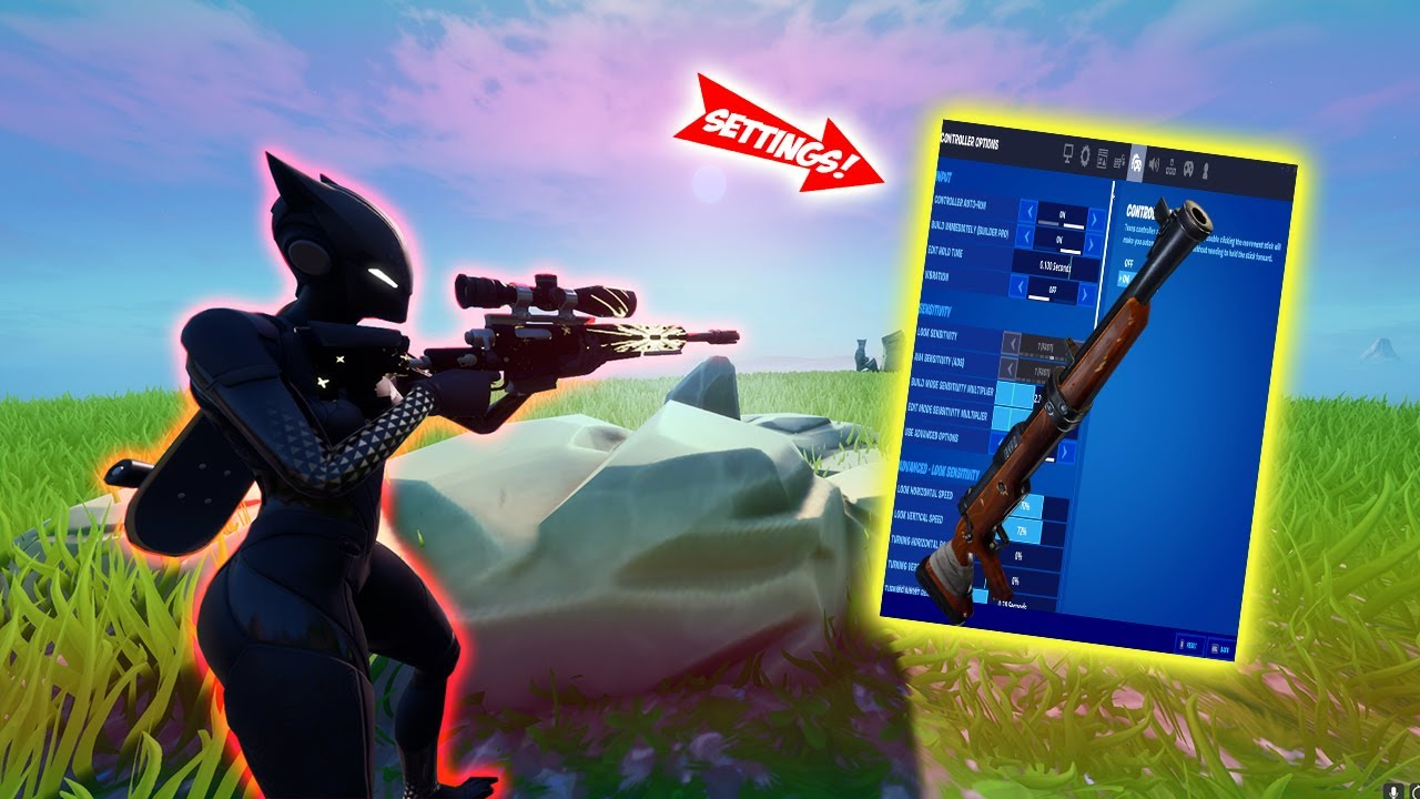 *BEST* Fortnite Season 3 Sniper SETTINGS (Xbox/Ps4/PC)
