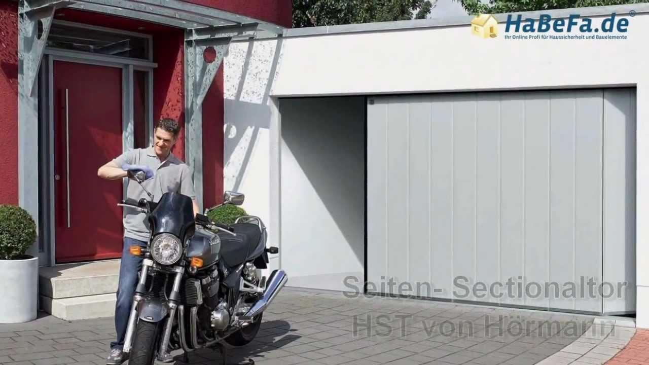 seiten sectionaltor hst von h rmann produktvorstellung youtube. Black Bedroom Furniture Sets. Home Design Ideas