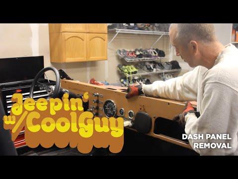 Jeep CJ7 Dash Panel Removal