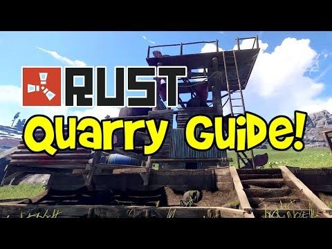 RUST Quarry Guide 2017! (Placement, Survey Charge Tutorial, Base Protection, HQM, Tips)