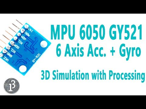 Arduino MPU6050 GY521 6 Axis Accelerometer + Gyro (3D