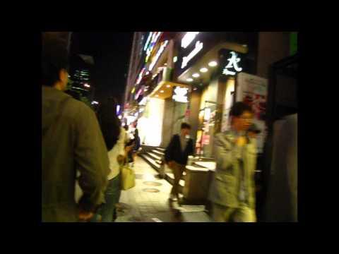 Gangnam Night Walk Through (Gangnam Style Nightime)