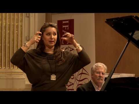 2016: Eliza Boom, soprano. MasterClass with Barbara Frittoli and David Harper