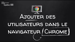 Ajouter un utilisateur dans le navigateur Chrome