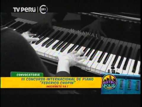 """Convocatoria III Concurso Internacional de Piano """"Federico Chopin"""" 2015. Programa """"Metrópolis"""""""