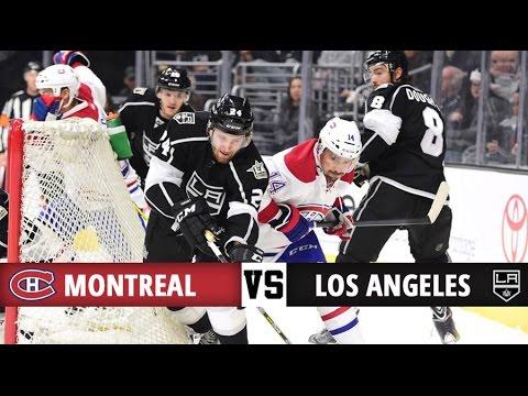 Montreal Canadiens vs Los Angeles Kings   Season Game 25   Highlights (4/12/16)