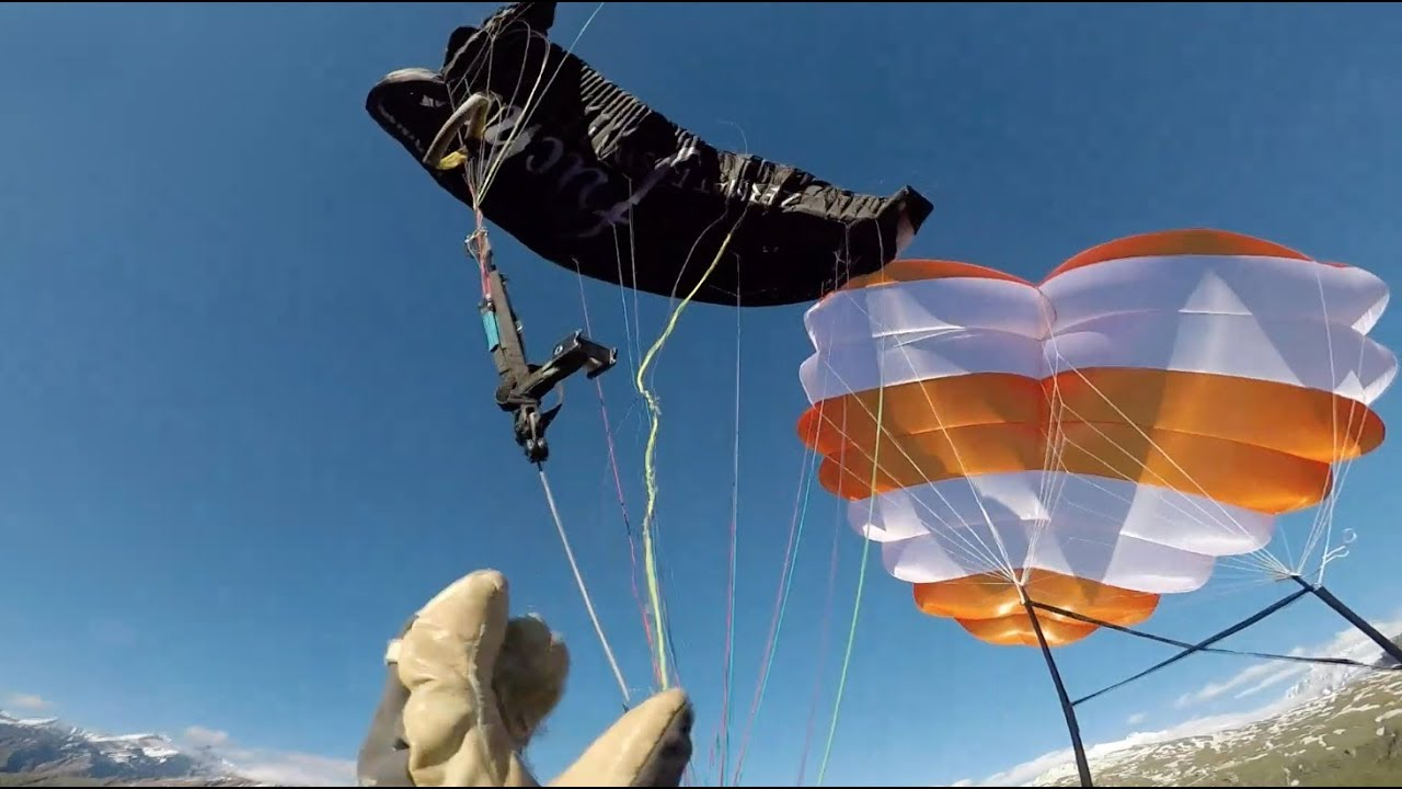 paragliding reserve throw after failed SAT