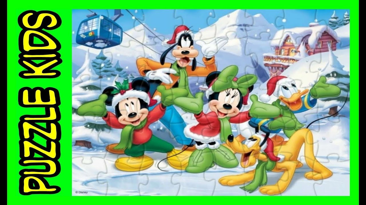 7080c890c5115 MICKEY MINNIE Mouse Goofy Pluto DONALD Duck - Disney Christmas Puzzle -  Puzzle Video Games For Kids