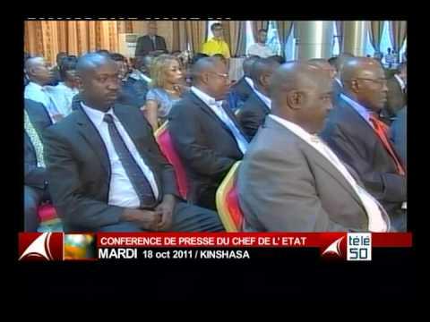 JOSEPH KABILA POINT DE PRESSE  RDC TELE 50  CONGO  PARTI 2