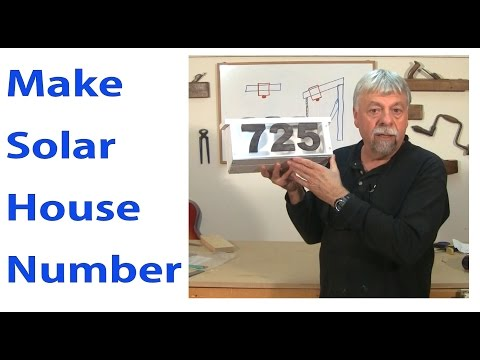 How to Make Solar House Number -  Woodworkweb