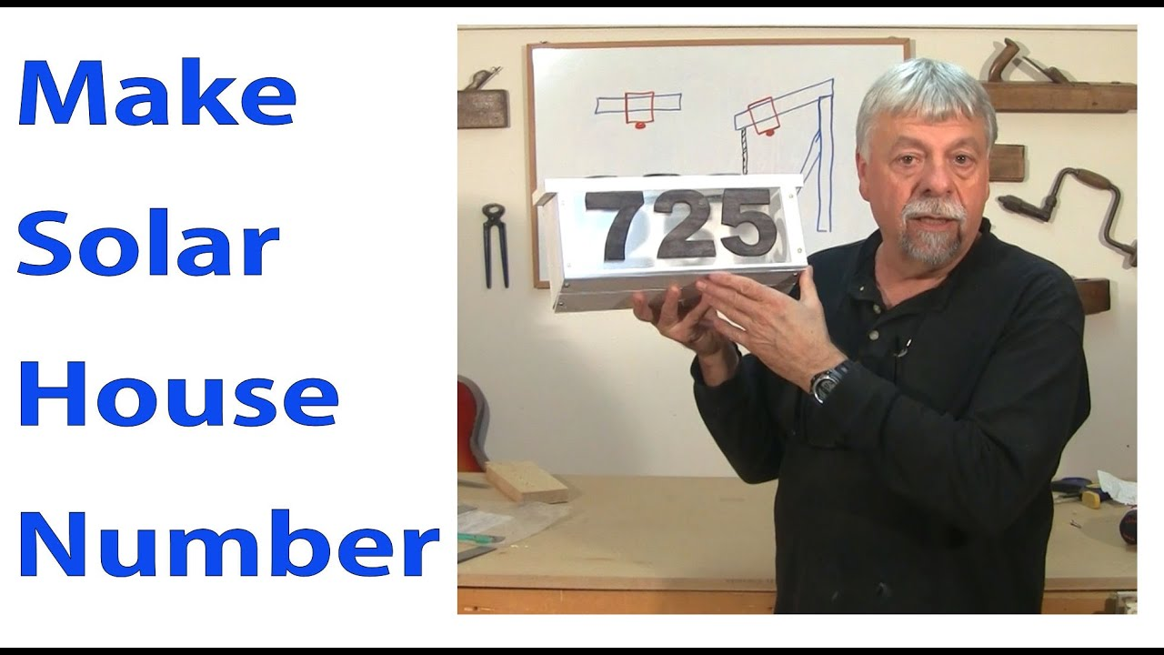 How to make solar house number woodworkweb